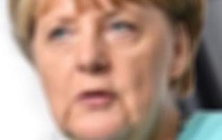 Angela Merkel unscharf fotografiert