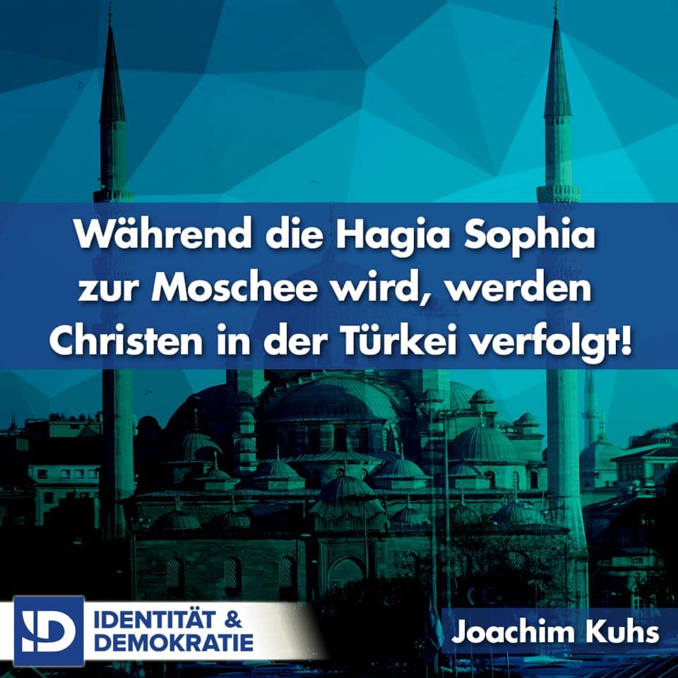 Während die Hagia Sophia zur Moschee wird, werden Christen in der Türkei verfolgt