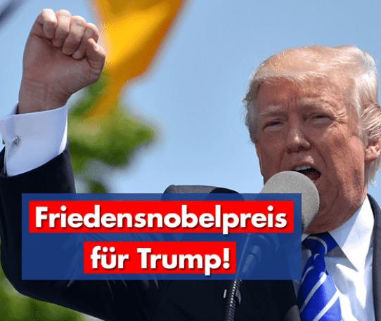 ID unterstützt Friedensnobelpreis für Donald John Trump
