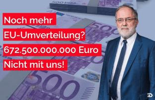 Noch mehr EU-Umverteilung: 672.500.000.000 Euro!