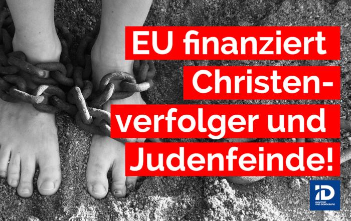 Indem die EU hart verdientes Steuergeld der Bürger ihrer Mitgliedsstaaten in den Iran überweist, finanzieren wir deren Terror gegen Christen und Juden. Und das in Zeiten wachsender Knappheit in unseren öffentlichen Haushalten sowie ständig wachsender Steuer- und Abgabenlast für die Menschen innerhalb der EU.