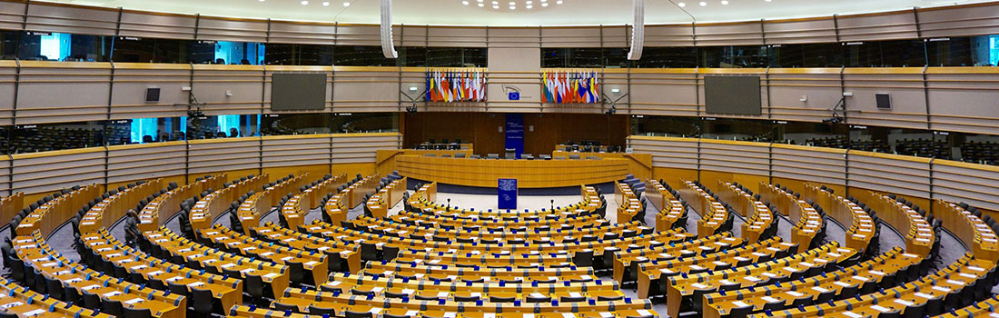 Plenarsaal des EU-Parlaments in Brüssel