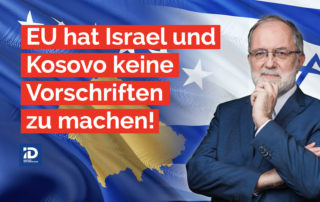 Während EU und Bundesregierung die Mörder-Mullahs im Iran hofieren, lassen sie keine Gelegenheit aus, die einzige Demokratie im Nahen Osten zu brüskieren. Zusammen mit der Harris-Biden-Regierung in den Vereinigten Staaten scheinen Berlin und Brüssel wild entschlossen, alle Friedensverträge der Trump-Regierung zu sabotieren, sei es das Abkommen zwischen Serbien und Kosovo, oder die Abraham-Abkommen zwischen Israel und den arabischen Staaten. Die Arroganz der EU und BRD, dem souveränen Israel Vorschriften machen zu wollen, während die EU bei vielen Problemen versagt, wird als schlechter Witz in die Geschichtsbücher eingehen.
