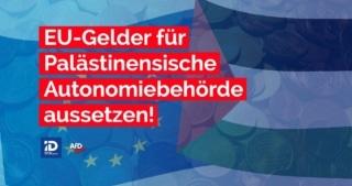 Eigentlich sollten im Mai 2021 nach 16 Jahren das erste Mal wieder Wahlen in der Palästinensischen Autonomiebehörde stattfinden, finanziert mit 1,5 Millionen Euro von den Steuerzahlern in der EU. Stattdessen hat der sogenannte palästinensische Präsident Mahmud Abbas die Wahlen auf unbestimmte Zeit verschoben. Fatah und Hamas setzen lieber auf Gewalt, Terror, Raketen und Eskalation. Die demokratisch nicht legitimierte Palästinensische Autonomiebehörde wird jedes Jahr mit 300 Millionen Euro von der EU subventioniert, und verweigert sich stur allen Friedensverhandlungen mit Israel. Dieses Geld muss sofort gestoppt werden, bis die Palästinensische Autonomiebehörde wieder zu Frieden und Demokratie zurückfindet.